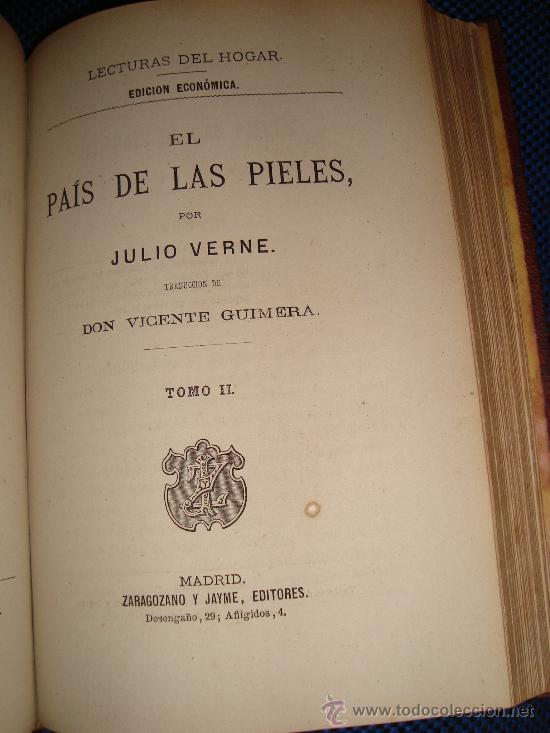 Libros antiguos: (167)EL PAIS DE LAS PIELES - 2 TOMOS EN UNO - - Foto 3 - 29828902