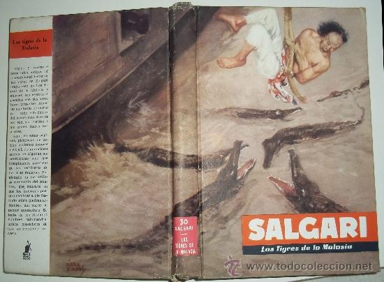 Libros antiguos: los tigres de la malasia. emilio salgari. Ed. Molino. 1955 - Foto 2 - 31422616