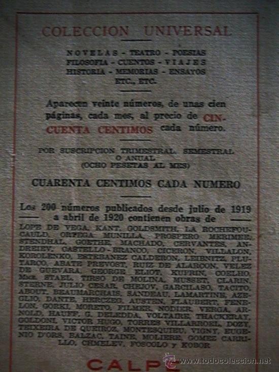 Libros antiguos: colección universal Quevedo Chejov años 20 - Foto 3 - 32087235