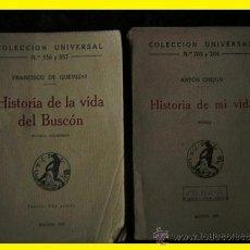 Libros antiguos: COLECCIÓN UNIVERSAL QUEVEDO CHEJOV AÑOS 20. Lote 32087235