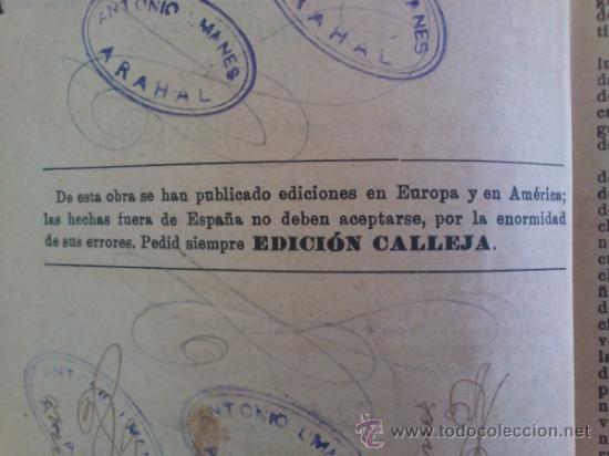 Libros antiguos: DON QUIJOTE DE LA MANCHA (---CALLEJA ---AÑO 1905) - Foto 6 - 32823226