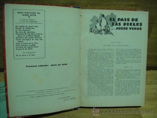 EN EL PAIS DE LAS PIELES - UN CAPITAN DE QUINCE AÑOS / EDITORIAL MOLINO 1ª EDICION 1936 (Libros Antiguos, Raros y Curiosos - Literatura Infantil y Juvenil - Novela)