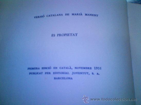 Libros antiguos: Peter Pan i Wendy 1ª edicion en catalan 1935 - Foto 3 - 37313484