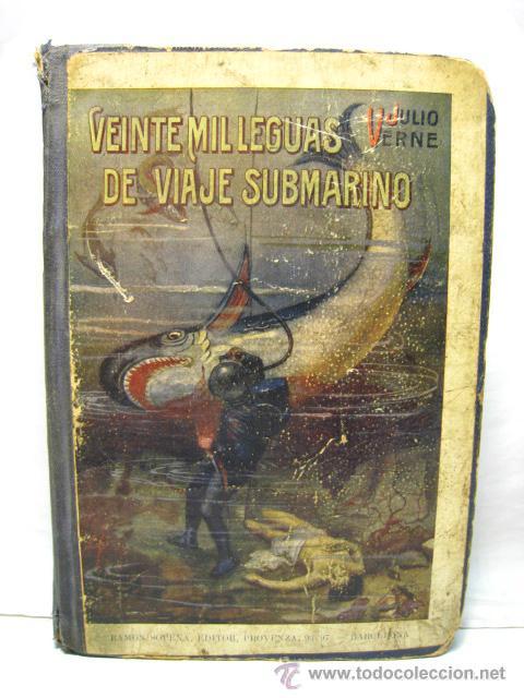 VEINTE MIL LEGUAS DE VIAJE SUBMARINO + LAS ISLA MISTERIOSA T1 Y T2 - JULIO VERNE - RAMON SOPENA (Libros Antiguos, Raros y Curiosos - Literatura Infantil y Juvenil - Novela)