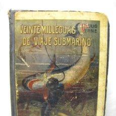 Libros antiguos: VEINTE MIL LEGUAS DE VIAJE SUBMARINO + LAS ISLA MISTERIOSA T1 Y T2 - JULIO VERNE - RAMON SOPENA. Lote 37781120
