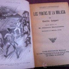 Libros antiguos: OBRA DE EMILIO SALGARI. LOS PIRATAS DE MALASIA. . Lote 38492292