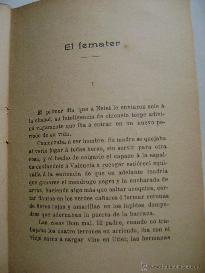 Libros antiguos: CUENTOS VALENCIANOS.V. BLASCO IBAÑEZ.275 - Foto 2 - 39606433