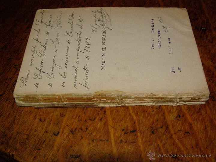 Libros antiguos: Otro Libro Muy Raro... - Martín el pescador - de José Moreno Córdoba - 1926 - Foto 2 - 147787586