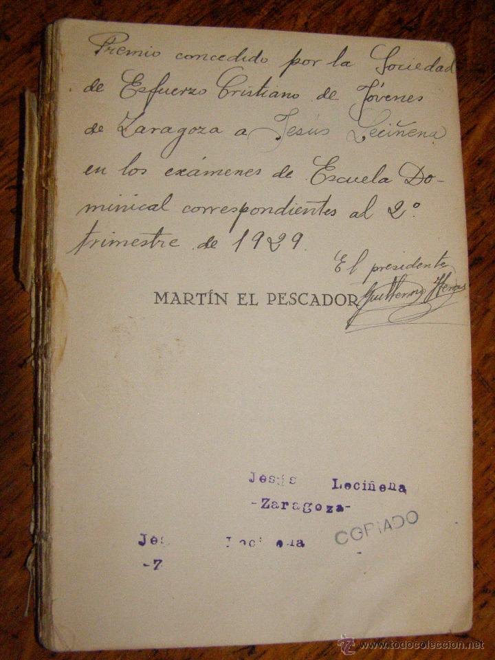 Libros antiguos: Otro Libro Muy Raro... - Martín el pescador - de José Moreno Córdoba - 1926 - Foto 3 - 147787586