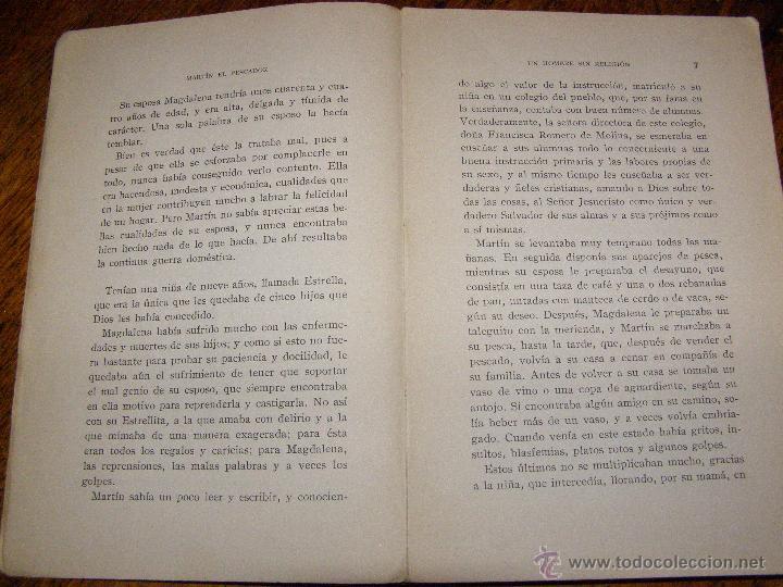 Libros antiguos: Otro Libro Muy Raro... - Martín el pescador - de José Moreno Córdoba - 1926 - Foto 5 - 147787586