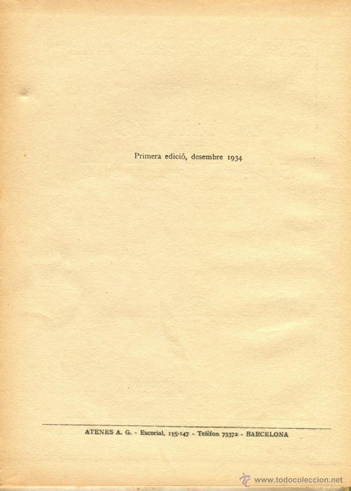 Libros antiguos: EL MINYO DEL COP DE PUNY ILUSTRACIONES DE OPISSO 1ª ED. 1934 BUEN ESTADO VER INFORMACION DETALLADA - Foto 4 - 41622798