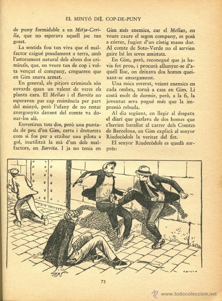 Libros antiguos: EL MINYO DEL COP DE PUNY ILUSTRACIONES DE OPISSO 1ª ED. 1934 BUEN ESTADO VER INFORMACION DETALLADA - Foto 6 - 41622798