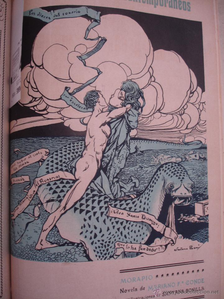 Libros antiguos: LOS CONTEMPORANEOS. REVISTA SEMANAL ILUSTRADA. TRES TOMOS año completo 1910 HASTA ENERO 1911 - Foto 2 - 42451489