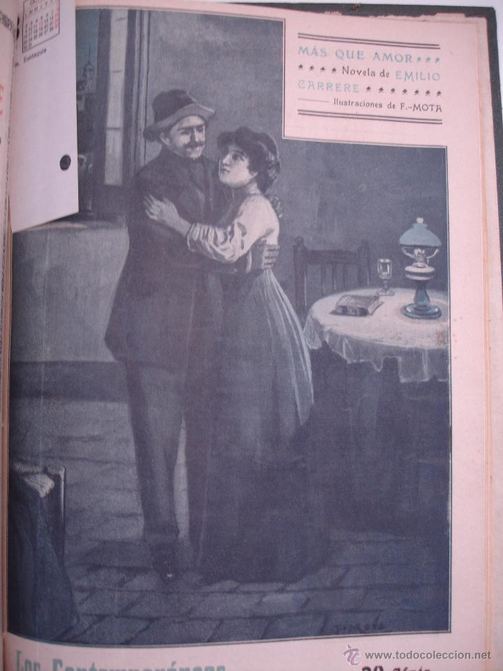 Libros antiguos: LOS CONTEMPORANEOS. REVISTA SEMANAL ILUSTRADA. TRES TOMOS año completo 1910 HASTA ENERO 1911 - Foto 3 - 42451489
