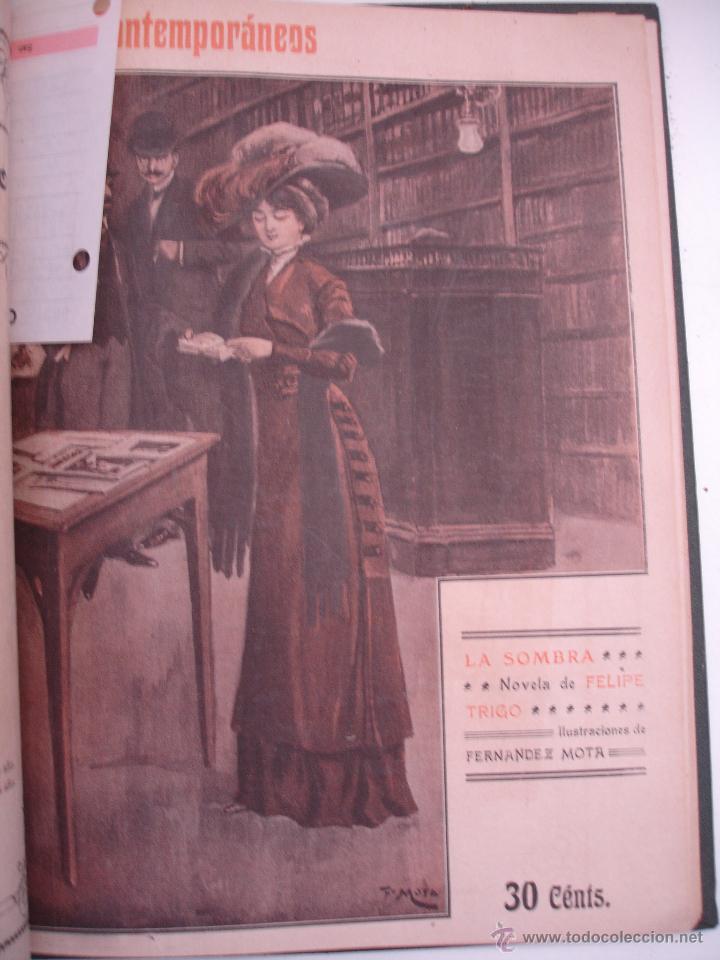 Libros antiguos: LOS CONTEMPORANEOS. REVISTA SEMANAL ILUSTRADA. TRES TOMOS año completo 1910 HASTA ENERO 1911 - Foto 6 - 42451489