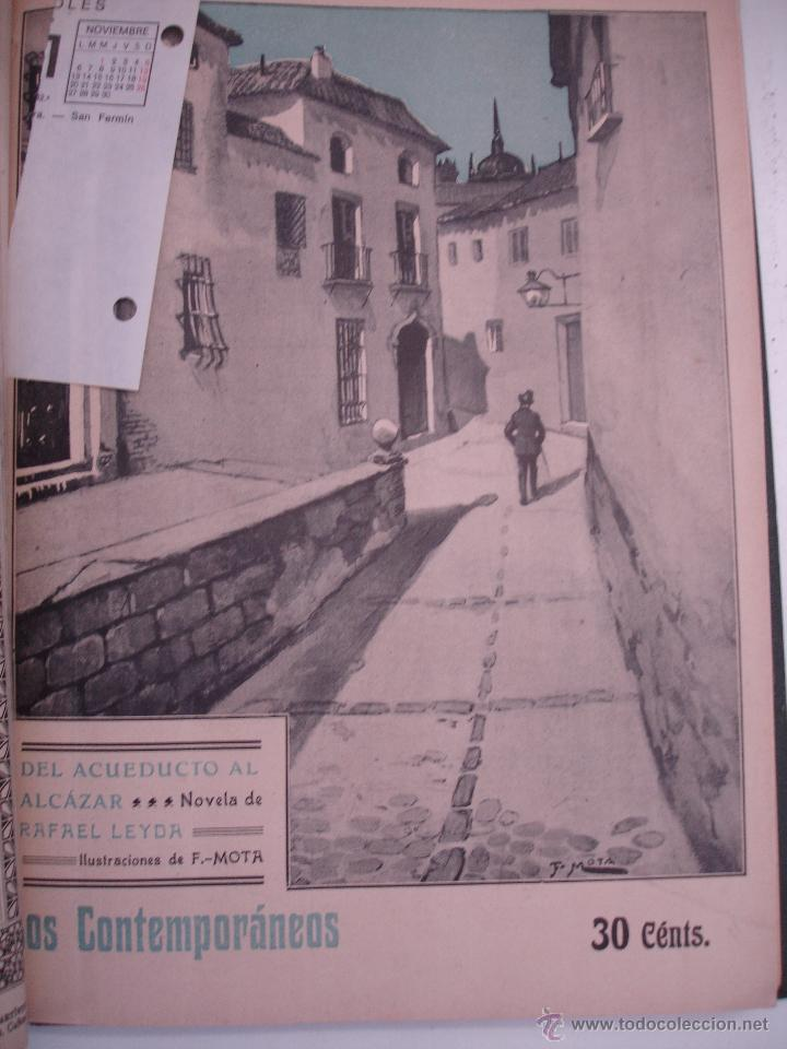 Libros antiguos: LOS CONTEMPORANEOS. REVISTA SEMANAL ILUSTRADA. TRES TOMOS año completo 1910 HASTA ENERO 1911 - Foto 10 - 42451489