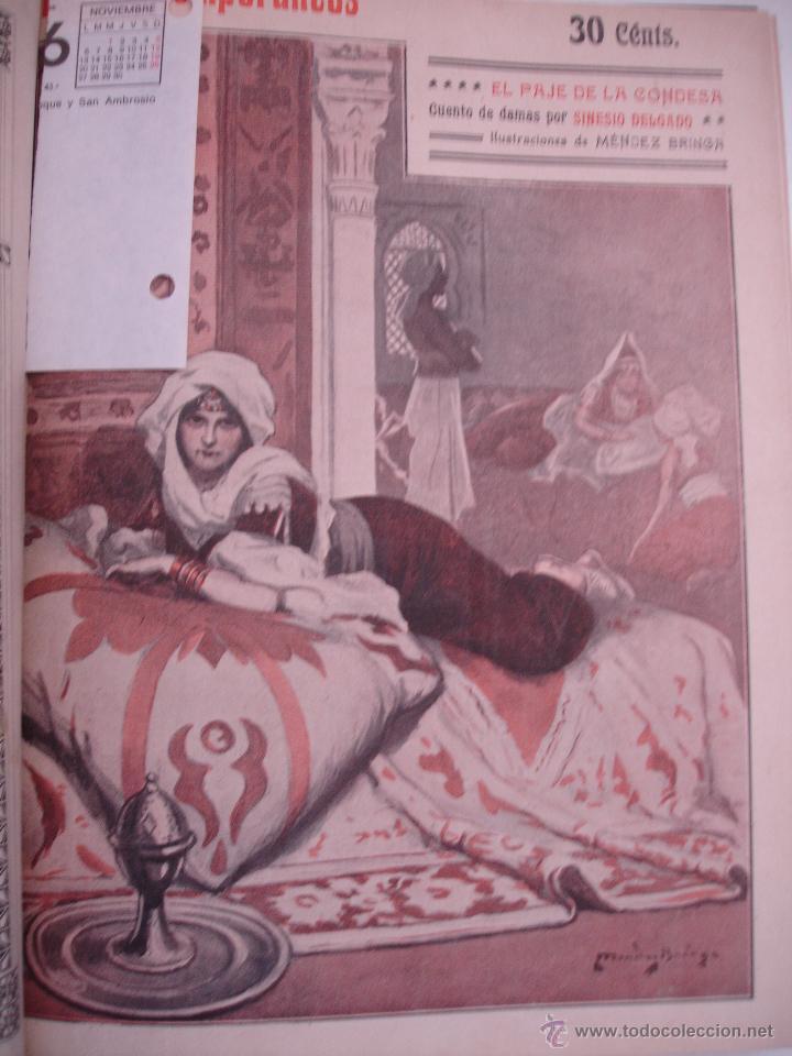 Libros antiguos: LOS CONTEMPORANEOS. REVISTA SEMANAL ILUSTRADA. TRES TOMOS año completo 1910 HASTA ENERO 1911 - Foto 12 - 42451489