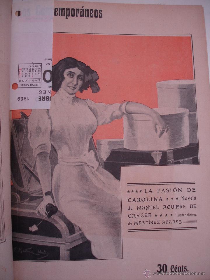 Libros antiguos: LOS CONTEMPORANEOS. REVISTA SEMANAL ILUSTRADA. TRES TOMOS año completo 1910 HASTA ENERO 1911 - Foto 14 - 42451489