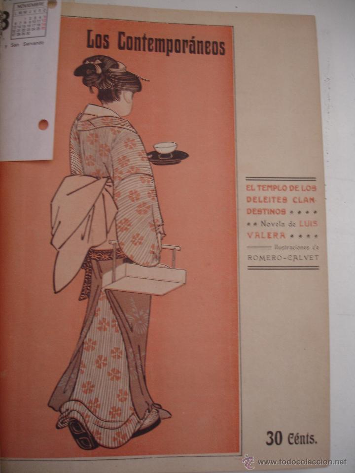 Libros antiguos: LOS CONTEMPORANEOS. REVISTA SEMANAL ILUSTRADA. TRES TOMOS año completo 1910 HASTA ENERO 1911 - Foto 16 - 42451489