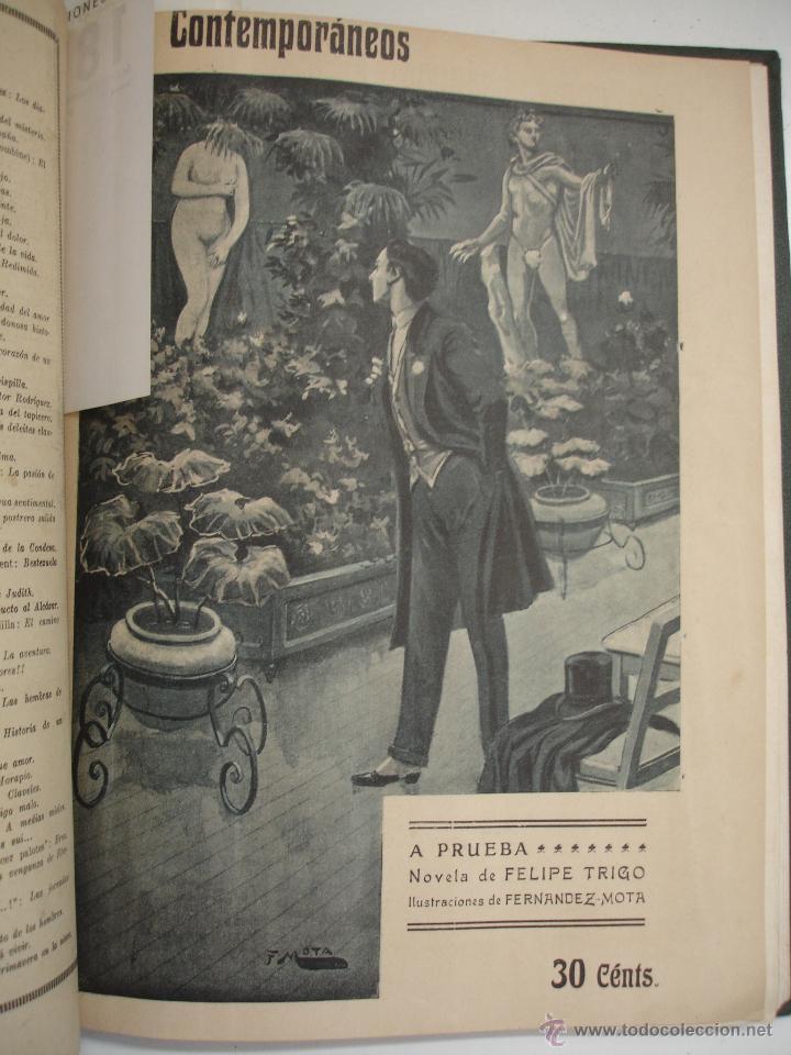 Libros antiguos: LOS CONTEMPORANEOS. REVISTA SEMANAL ILUSTRADA. TRES TOMOS año completo 1910 HASTA ENERO 1911 - Foto 24 - 42451489
