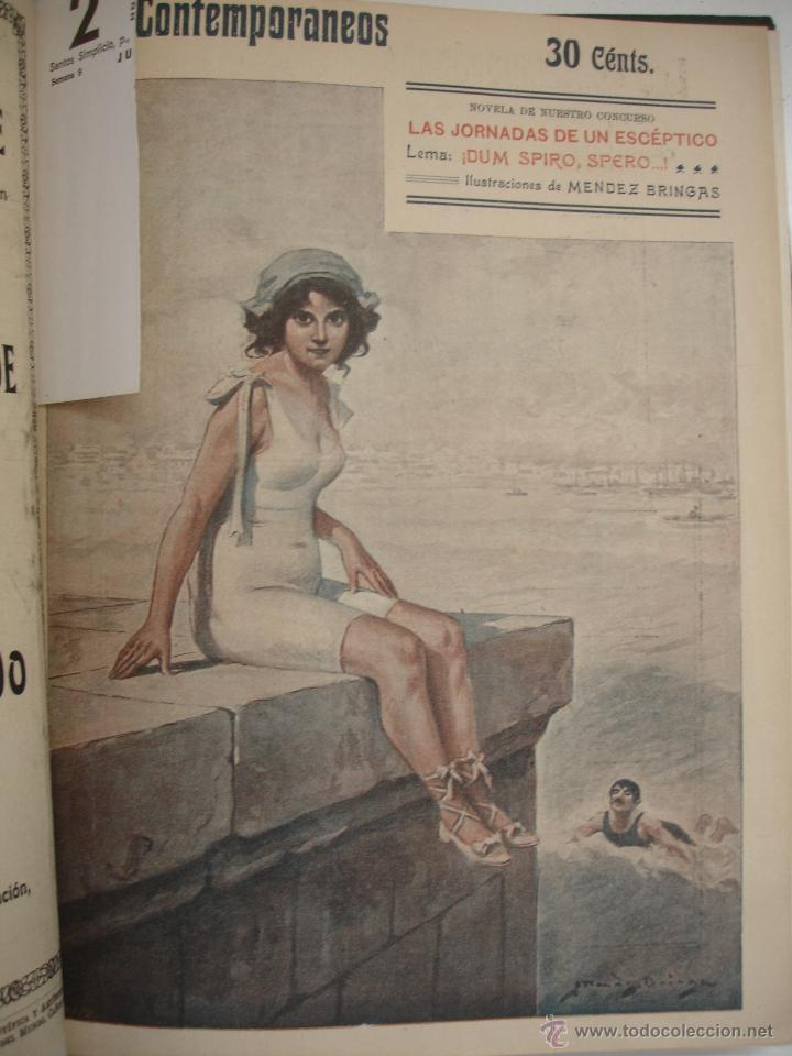 Libros antiguos: LOS CONTEMPORANEOS. REVISTA SEMANAL ILUSTRADA. TRES TOMOS año completo 1910 HASTA ENERO 1911 - Foto 25 - 42451489