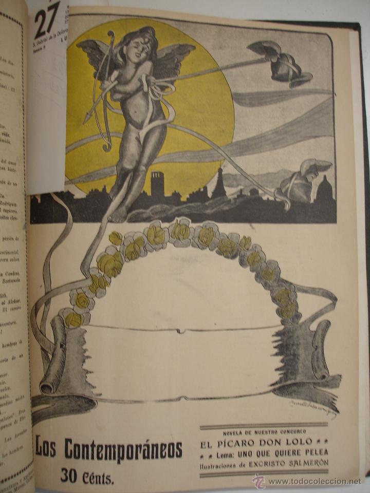 Libros antiguos: LOS CONTEMPORANEOS. REVISTA SEMANAL ILUSTRADA. TRES TOMOS año completo 1910 HASTA ENERO 1911 - Foto 26 - 42451489