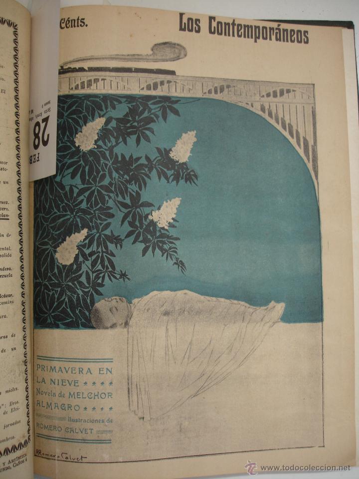 Libros antiguos: LOS CONTEMPORANEOS. REVISTA SEMANAL ILUSTRADA. TRES TOMOS año completo 1910 HASTA ENERO 1911 - Foto 27 - 42451489