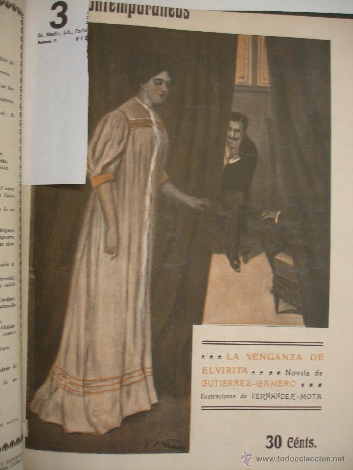 Libros antiguos: LOS CONTEMPORANEOS. REVISTA SEMANAL ILUSTRADA. TRES TOMOS año completo 1910 HASTA ENERO 1911 - Foto 30 - 42451489