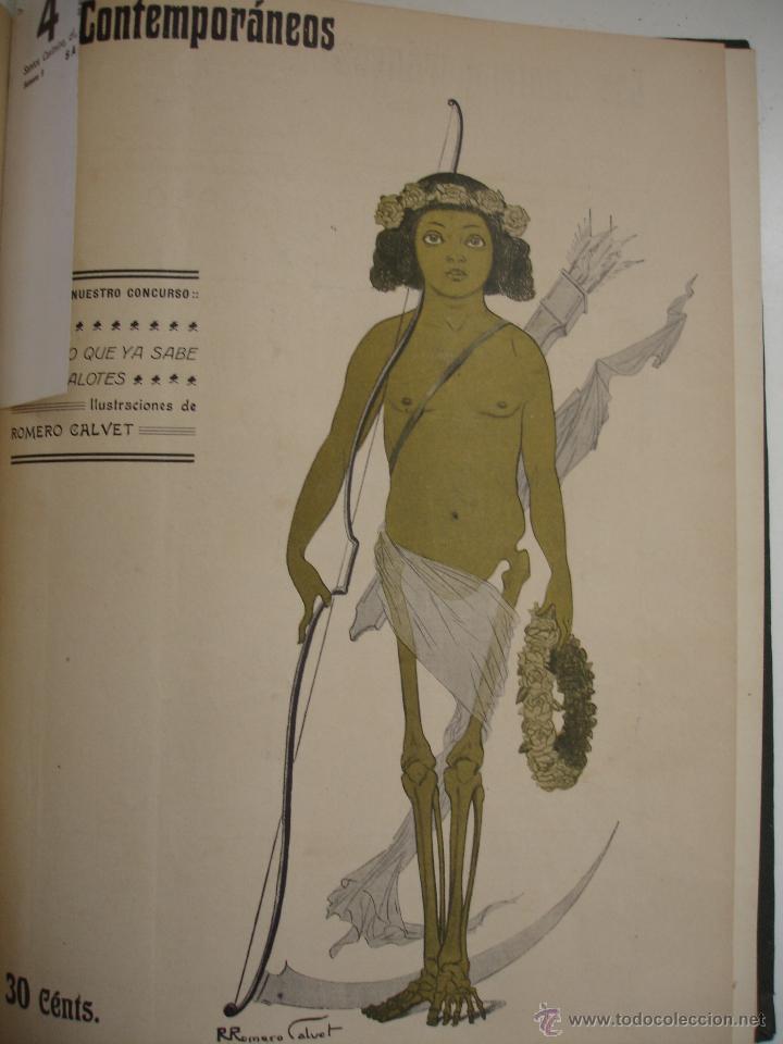Libros antiguos: LOS CONTEMPORANEOS. REVISTA SEMANAL ILUSTRADA. TRES TOMOS año completo 1910 HASTA ENERO 1911 - Foto 32 - 42451489