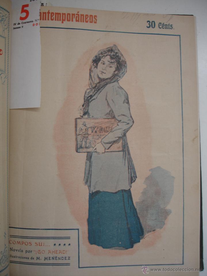 Libros antiguos: LOS CONTEMPORANEOS. REVISTA SEMANAL ILUSTRADA. TRES TOMOS año completo 1910 HASTA ENERO 1911 - Foto 33 - 42451489