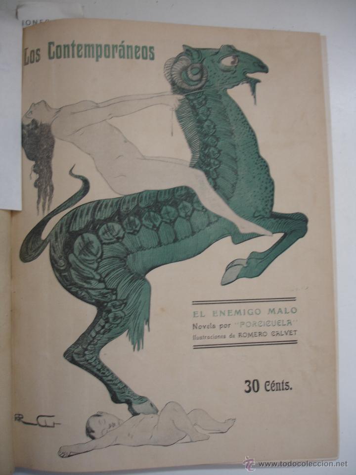 Libros antiguos: LOS CONTEMPORANEOS. REVISTA SEMANAL ILUSTRADA. TRES TOMOS año completo 1910 HASTA ENERO 1911 - Foto 35 - 42451489