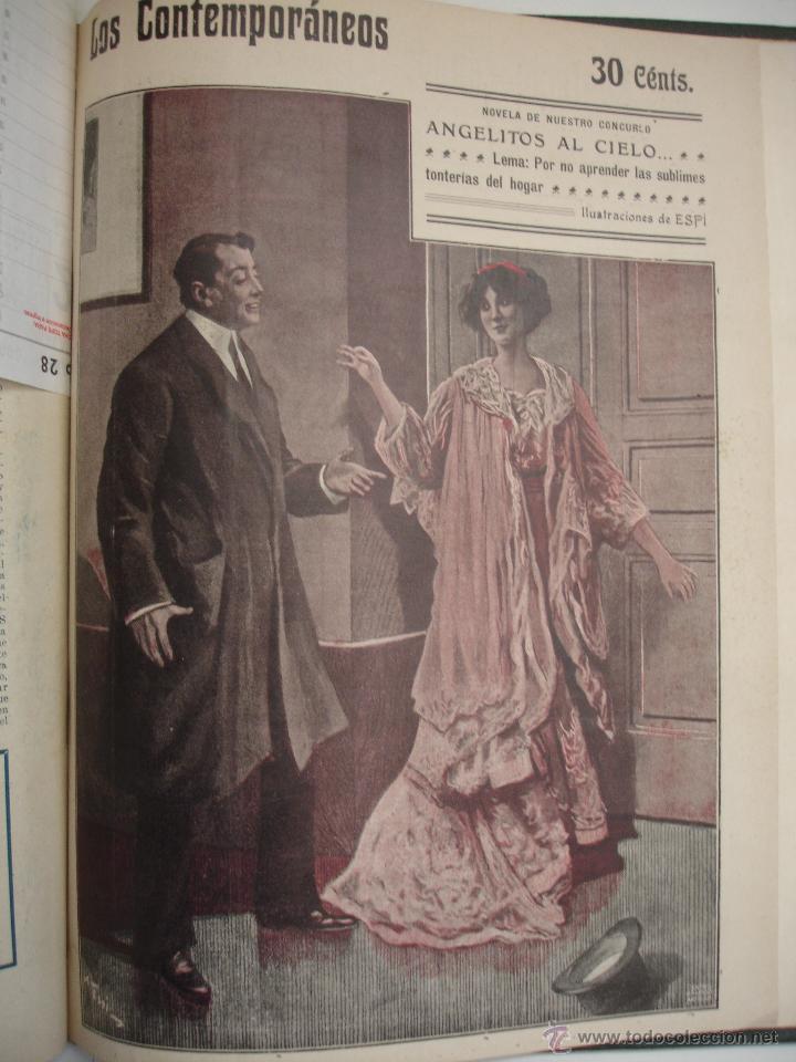 Libros antiguos: LOS CONTEMPORANEOS. REVISTA SEMANAL ILUSTRADA. TRES TOMOS año completo 1910 HASTA ENERO 1911 - Foto 37 - 42451489