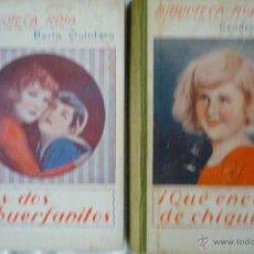 Libros antiguos: L- 333. LIBROS BIBLIOTECA ROSA. CONDESA DE SEGUR Y BERTA QUINTEERO. 1929 - 1933. Lote 42617085