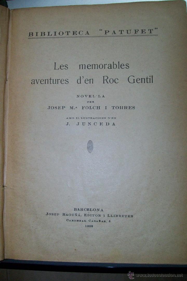 FOLCH I TORRES AVENTURES D´EN ROC GENTIL NIU D´ALIGUES BIBLIOTECA PATUFET AÑOS 20 (Libros Antiguos, Raros y Curiosos - Literatura Infantil y Juvenil - Novela)