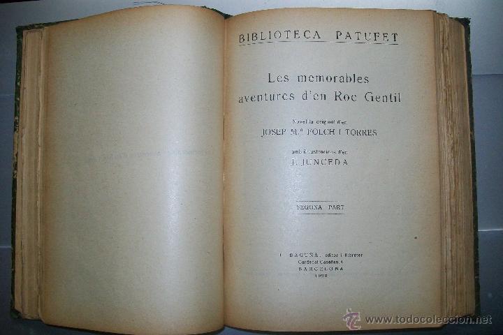 Libros antiguos: FOLCH I TORRES AVENTURES D´EN ROC GENTIL NIU D´ALIGUES BIBLIOTECA PATUFET AÑOS 20 - Foto 4 - 42877024