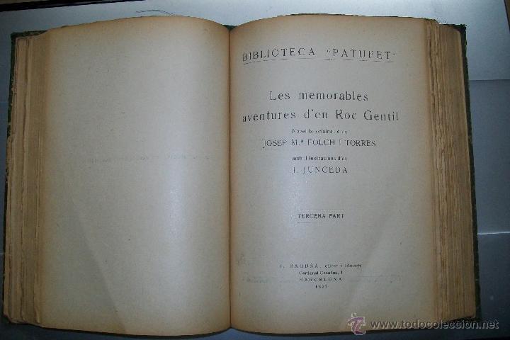 Libros antiguos: FOLCH I TORRES AVENTURES D´EN ROC GENTIL NIU D´ALIGUES BIBLIOTECA PATUFET AÑOS 20 - Foto 5 - 42877024