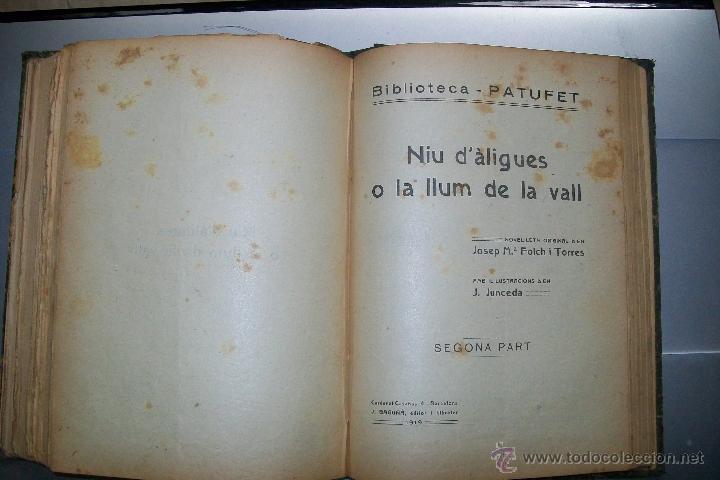 Libros antiguos: FOLCH I TORRES AVENTURES D´EN ROC GENTIL NIU D´ALIGUES BIBLIOTECA PATUFET AÑOS 20 - Foto 9 - 42877024