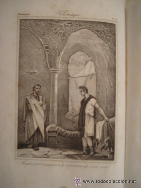 Libros antiguos: LES AVENTURES DE TELEMAQUE FILS D'ULYSSE - 1863 FRANCIA - GRABADOS - Foto 3 - 43980543