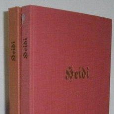 Libros antiguos: PRECIOSA EDICIÓN DE HEIDI EDITADA EN SUIZA EN 1944 Y 1946 EN ALEMÁN CON ILUSTRACIONES TIPO CROMO. Lote 44075221