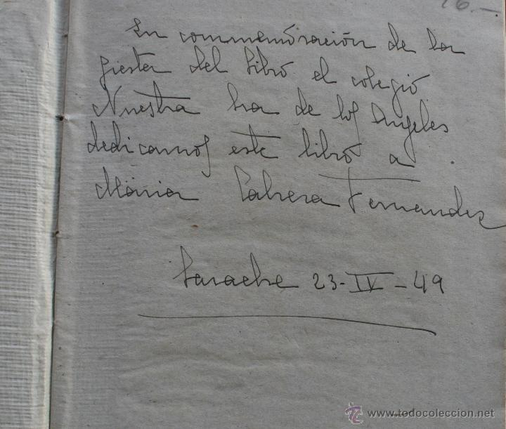 Libros antiguos: DON QUIJOTE DE LA MANCHA - EDICION PARA NIÑOS -DALMAU CARLES EDITORES 1931- DEDICATORIA LARACHE 1949 - Foto 2 - 46862219