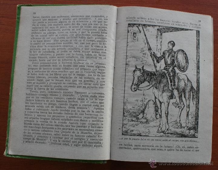 Libros antiguos: DON QUIJOTE DE LA MANCHA - EDICION PARA NIÑOS -DALMAU CARLES EDITORES 1931- DEDICATORIA LARACHE 1949 - Foto 4 - 46862219