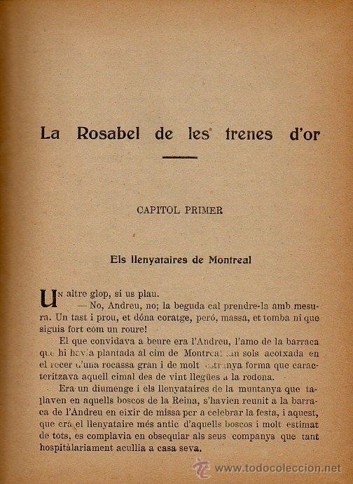 Libros antiguos: LA ROSABEL DE LES TRENES DOR - J.M. FOLCH I TORRES. IL.LUSTRACIONS VIÑALS. ED.JOSEP BAGUÑÁ, 1925 - Foto 3 - 48665941
