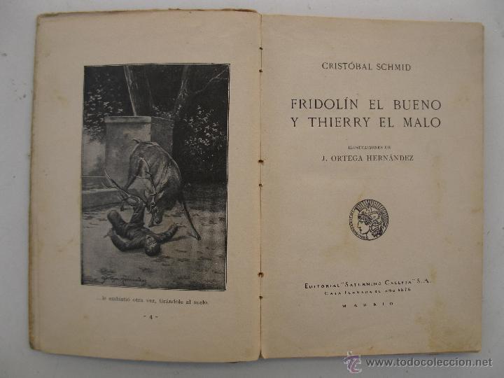 Libros antiguos: FRIDOLÍN EL BUENO Y THIERRY EL MALO - CRISTÓBAL SCHMID - BIBLIOTECA PARA NIÑOS Nº 25 - S. CALLEJA. - Foto 2 - 49180170