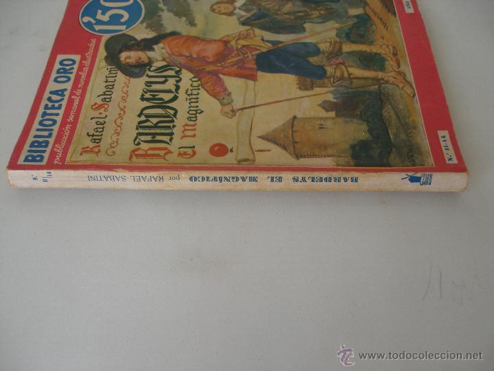 Libros antiguos: Bardelys El Magnifico Rafael Sabatini - Biblioteca Oro ditorial Molino Diciembre 1934 - Foto 2 - 49963212