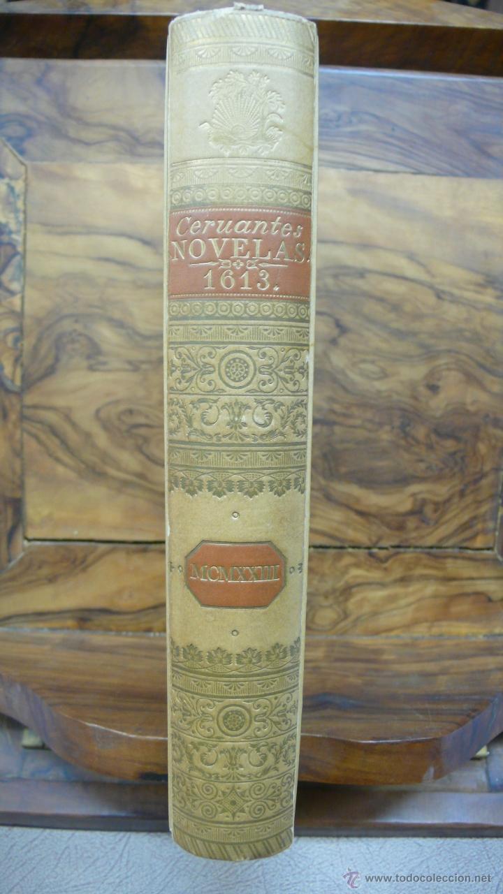 Libros antiguos: NOVELAS EXEMPLARES DE MIGUEL DE CERVANTES. FACSÍMIL DE LA EDICIÓN DE 1613. ILUSTRADO. - Foto 2 - 50123245