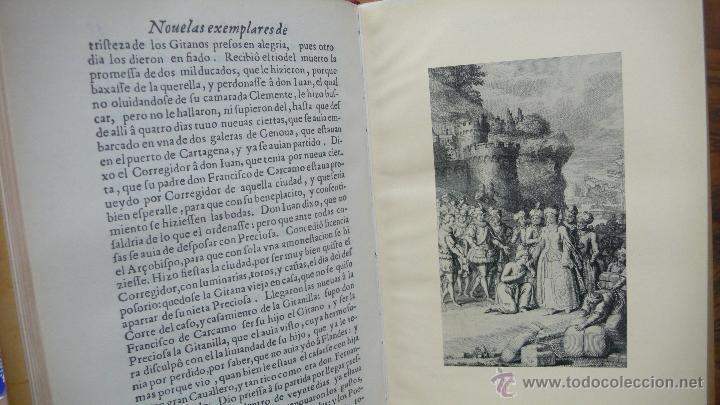 Libros antiguos: NOVELAS EXEMPLARES DE MIGUEL DE CERVANTES. FACSÍMIL DE LA EDICIÓN DE 1613. ILUSTRADO. - Foto 4 - 50123245
