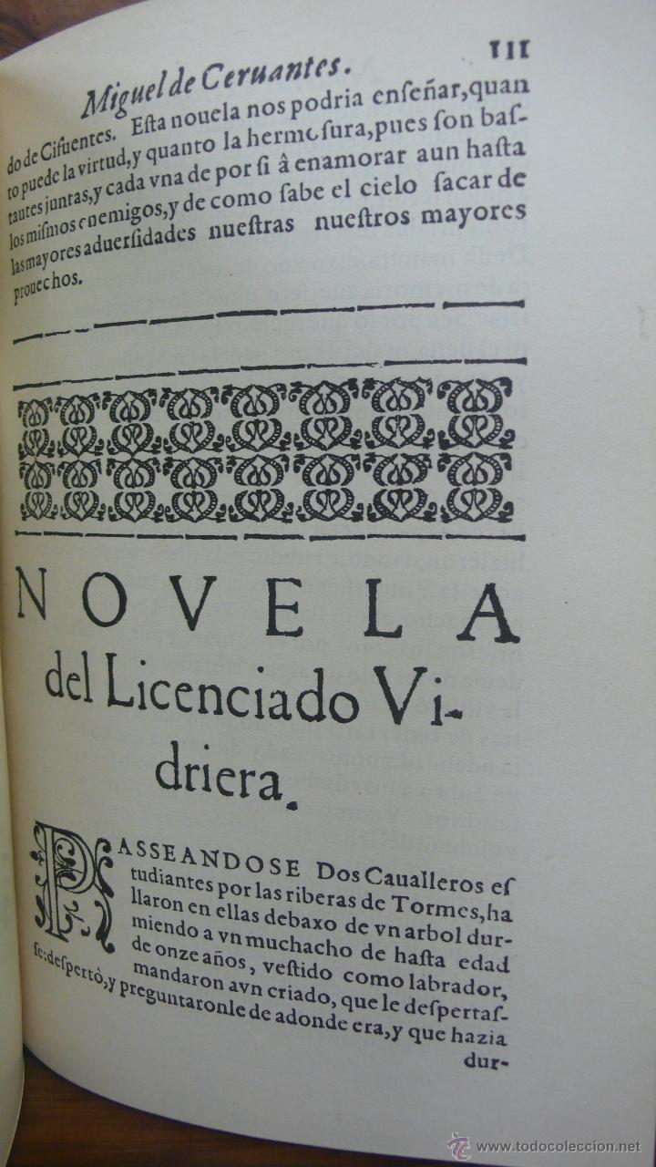 Libros antiguos: NOVELAS EXEMPLARES DE MIGUEL DE CERVANTES. FACSÍMIL DE LA EDICIÓN DE 1613. ILUSTRADO. - Foto 5 - 50123245