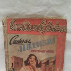 Libros antiguos: LIBRO - CUENTOS DE LA ALHAMBRA - WASHINGTON IRVING - EDITORIAL DOLAR. Lote 51052621