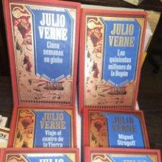 Libros antiguos: LOTE JULIO VERNE. 6 TOMOS EDICION CIRCULO LECTORES MIGUEL STROGOFF ETC VER TITULOS.IMPECABLES.. Lote 51188019