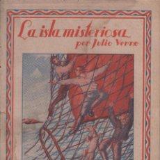 Libros antiguos: LA ISLA MISTERIOSA. JULIO VERNE. NUMERO 17. (1ª Y 2ª PARTE). EDITORIAL SAENZ DE JUBERA. Lote 51638816